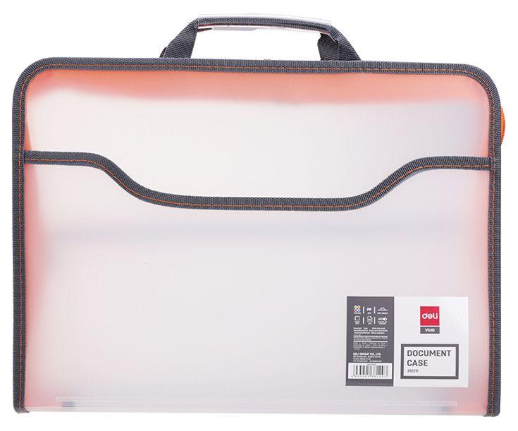 Папка-портфель Deli E38129 A4 полипропилен вид 1