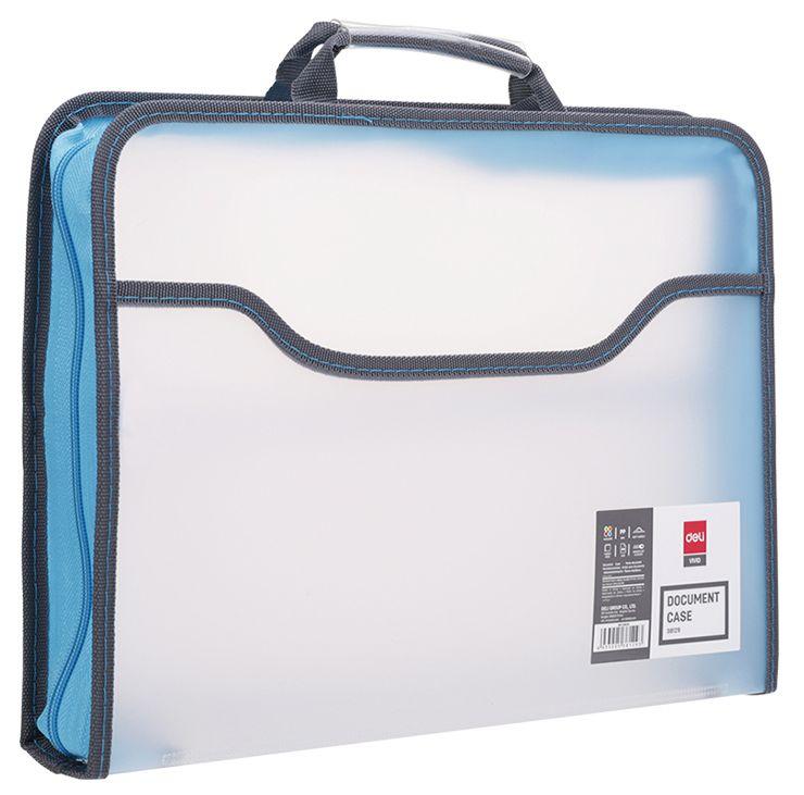 Папка-портфель Deli E38129 A4 полипропилен вид 3
