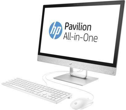"Моноблок HP Pavilion 24-r004ur 23.8"" Full HD i3 7100T (3.4)/4Gb/1Tb 7.2k/HDG630/DVDRW/Windows 10/GbitEth/клавиатура/мышь/Cam/белый 1920x1080"