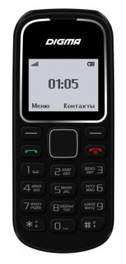 Мобильный телефон Digma Linx A105 2G 32Mb черный моноблок 1.44