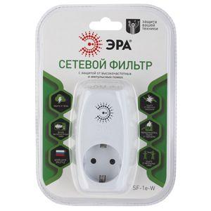 Сетевой фильтр Эра SF-1e-W (1 розетка) белый (пакет ПЭ)