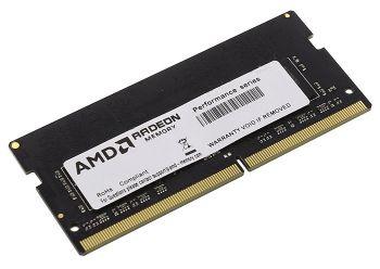 Память DDR4 4Gb 2400MHz AMD R744G2400S1S-UO OEM PC4-19200 CL17 SO-DIMM 260-pin 1.2В