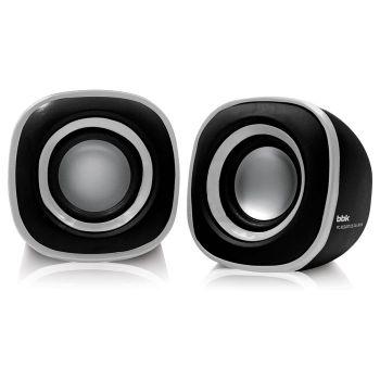 Колонки BBK CA-301S 2.0 черный/металлик 3Вт