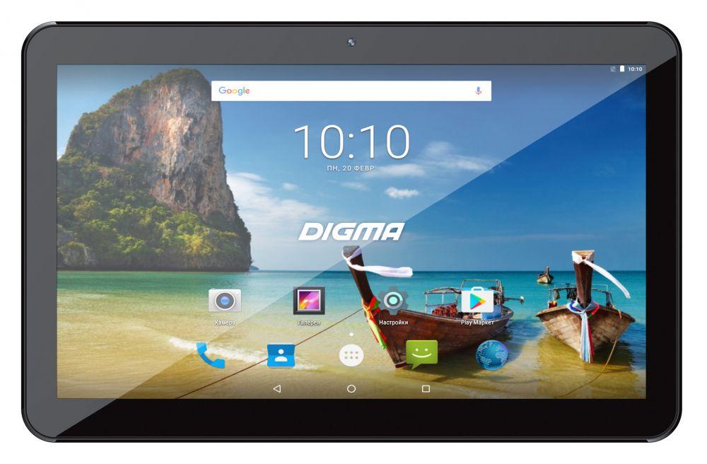 "Планшет Digma Plane 1715T 4G SC9832 (1.3) 4C/RAM1Gb/ROM16Gb 10.1"" TN 1024x600/3G/4G/Android 7.0/черный/2Mpix/0.3Mpix/BT/GPS/WiFi/Touch/microSD 128Gb/minUSB/4700mAh"