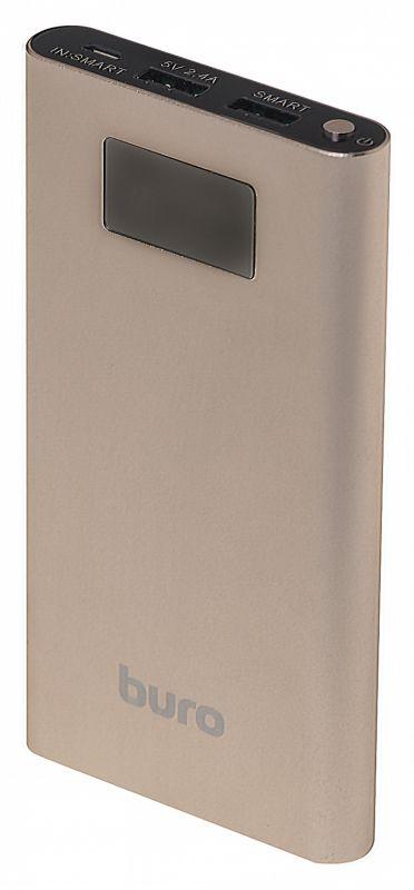 Мобильный аккумулятор Buro RA-10000-QC3.0-I&O Li-Pol 10000mAh 2.4A+1.5A золотистый 3xUSB