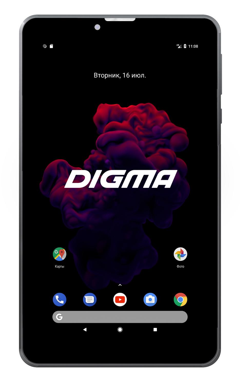 "Планшет Digma Optima Prime 4 3G SC7731C (1.2) 4C/RAM1Gb/ROM8Gb 7"" TN 1024x600/3G/Android 7.0/черный/0.3Mpix/BT/GPS/WiFi/Touch/microSD 64Gb/minUSB/2200mAh"