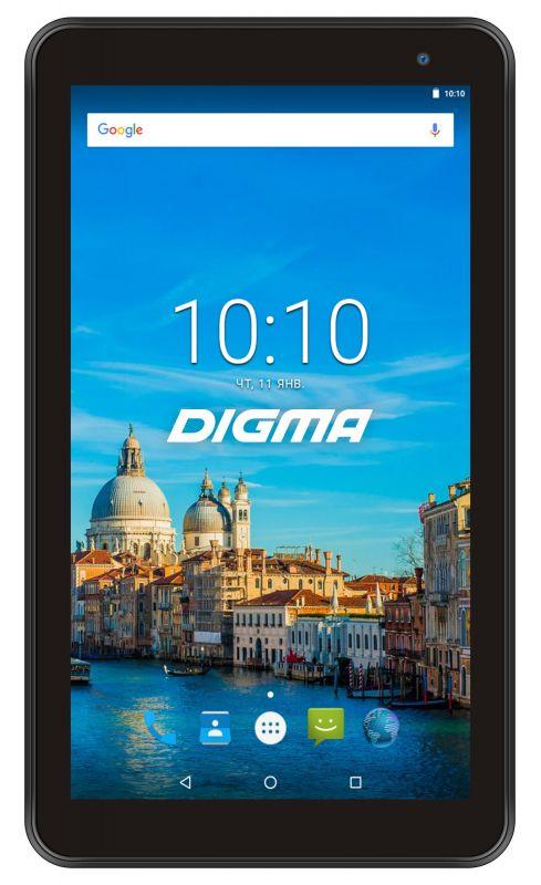 """Планшет Digma Optima 7017N 3G MT8321 (1.3) 4C/RAM2Gb/ROM16Gb 7"""" IPS 1024x600/3G/Android 7.0/черный/2Mpix/0.3Mpix/BT/GPS/WiFi/Touch/microSD 64Gb/minUSB/2500mAh"""