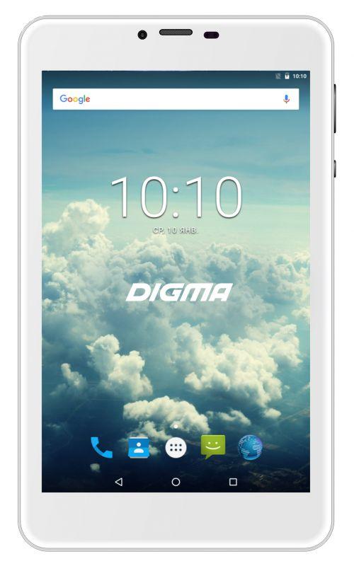 "Планшет Digma Plane 7563N 4G MTK8735V (1.0) 4C/RAM1Gb/ROM16Gb 7"" IPS 1280x800/3G/4G/Android 7.0/серебристый/2Mpix/0.3Mpix/BT/GPS/WiFi/Touch/microSD 64Gb/minUSB/2500mAh"