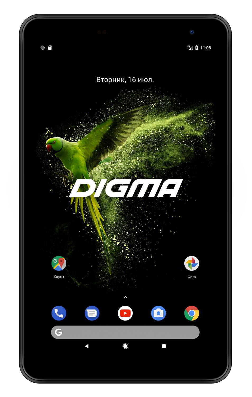 """Планшет Digma Optima 7018N 4G MTK8735V (1.0) 4C/RAM2Gb/ROM16Gb 7"""" IPS 1024x600/3G/4G/Android 7.0/черный/2Mpix/0.3Mpix/BT/GPS/WiFi/Touch/microSD 64Gb/minUSB/2500mAh"""
