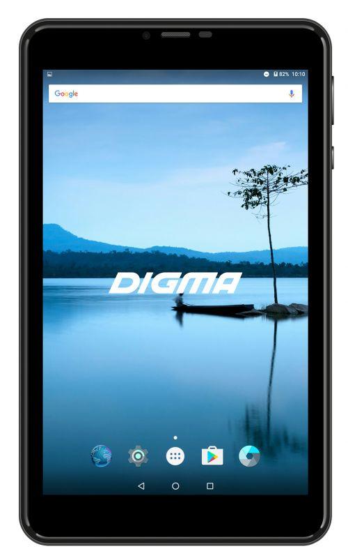 "Планшет Digma Plane 8021N 4G MTK8735V (1.0) 4C/RAM1Gb/ROM16Gb 8"" IPS 1280x800/3G/4G/Android 7.0/черный/2Mpix/0.3Mpix/BT/GPS/WiFi/Touch/microSD 64Gb/minUSB/3200mAh"