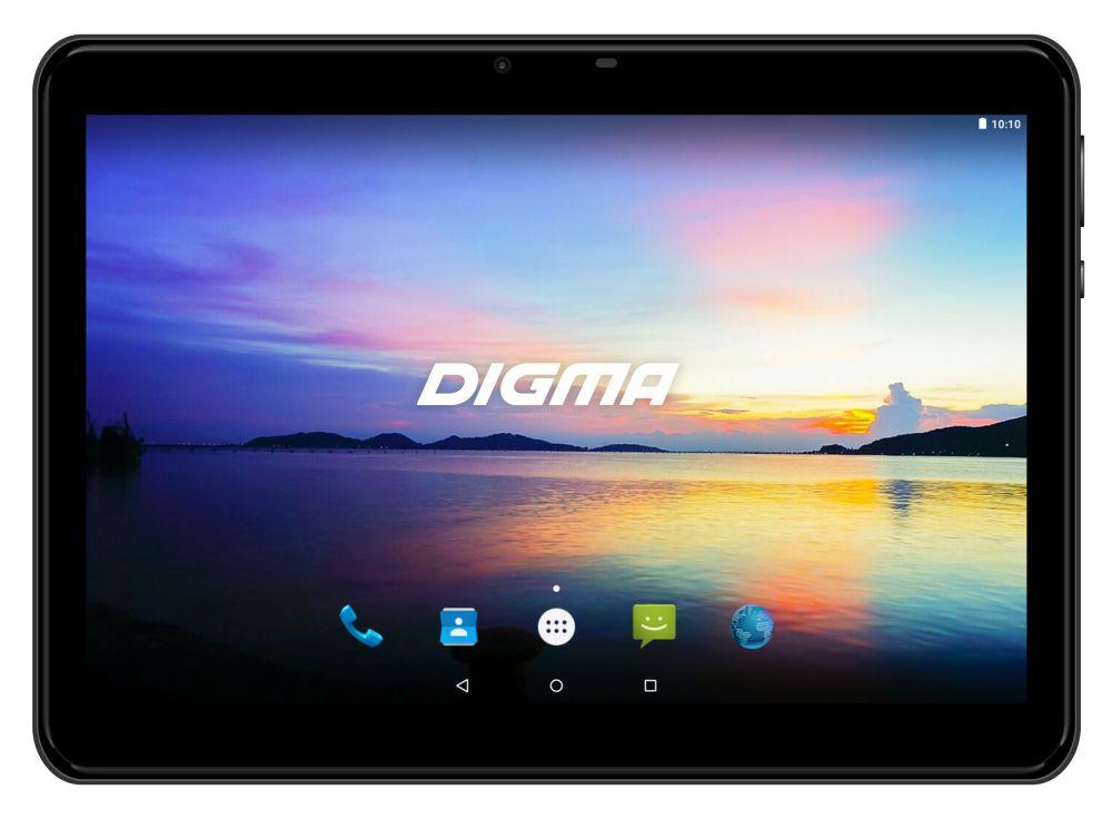 "Планшет Digma Plane 1573N 4G MTK8735V (1.0) 4C/RAM1Gb/ROM16Gb 10.1"" IPS 1280x800/3G/4G/Android 7.0/черный/2Mpix/0.3Mpix/BT/GPS/WiFi/Touch/microSD 64Gb/minUSB/5000mAh"