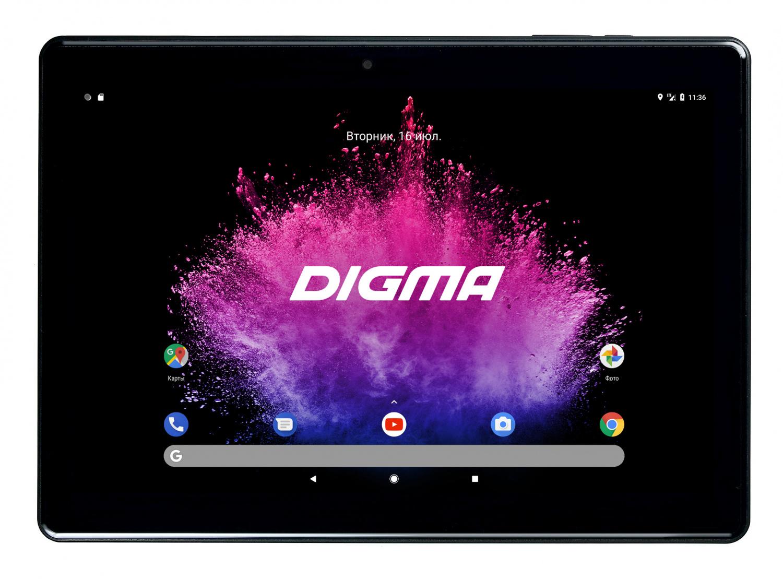 """Планшет Digma Optima 1025N 4G MTK8735V (1.0) 4C/RAM2Gb/ROM16Gb 10.1"""" IPS 1280x800/3G/4G/Android 7.0/черный/2Mpix/0.3Mpix/BT/GPS/WiFi/Touch/microSD 64Gb/minUSB/5000mAh"""