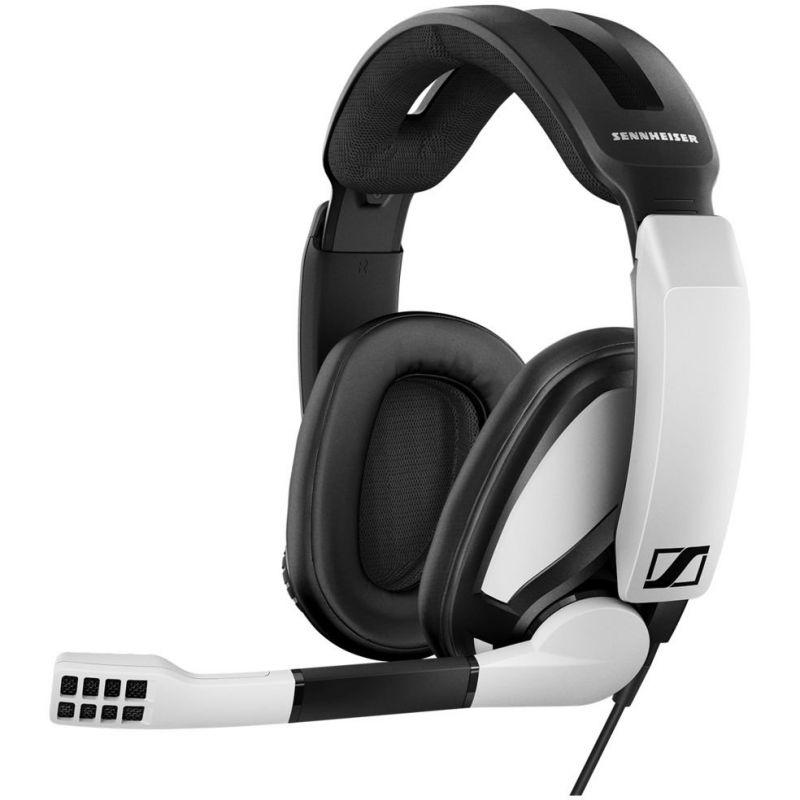 Наушники с микрофоном Sennheiser GSP 301 черный/белый 2.5м накладные оголовье (507202)