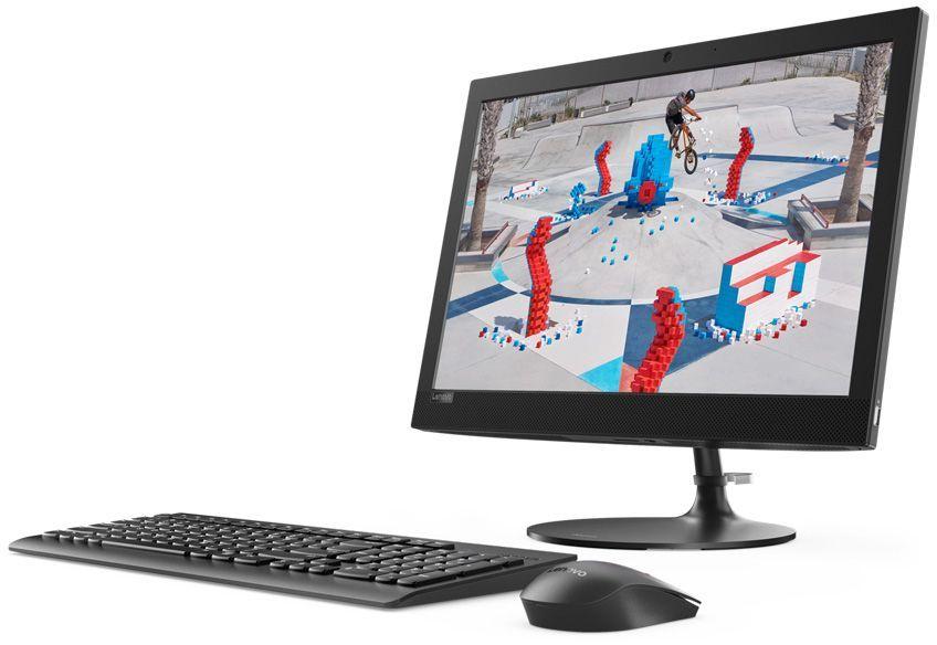 """Моноблок Lenovo IdeaCentre 330-20AST 19.5"""" WXGA+ A6 9200 (2)/4Gb/1Tb/R4/DVDRW/Windows 10/GbitEth/WiFi/BT/клавиатура/мышь/Cam/черный 1440x900"""