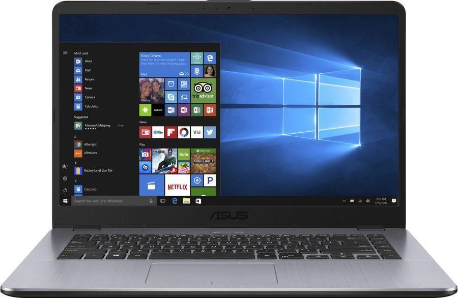 """Ноутбук Asus X505BA-EJ151 E2 9000/4Gb/500Gb/AMD Radeon R2/15.6""""/FHD (1920x1080)/Endless/dk.grey/WiFi/BT/Cam"""