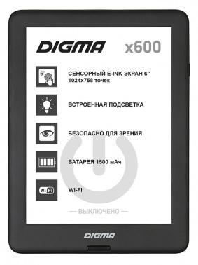 Электронная книга Digma X600 6