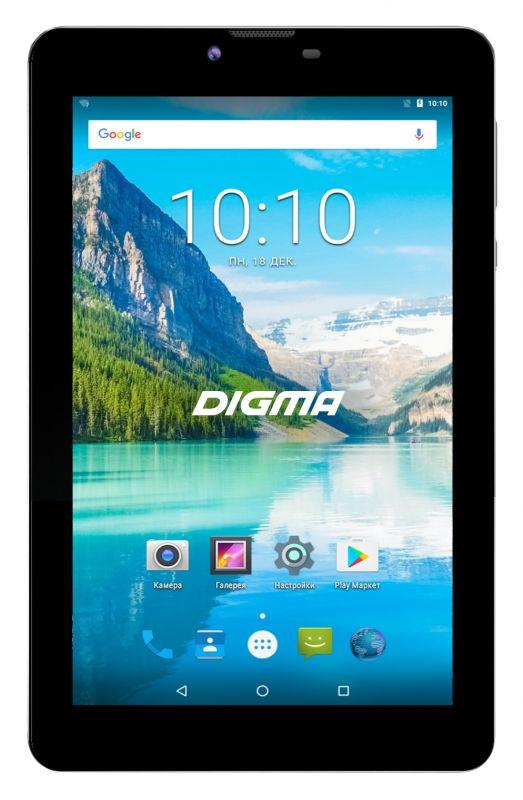 "Планшет Digma Plane 7574S 4G SC9832 (1.3) 4C/RAM1Gb/ROM8Gb 7"" IPS 1280x800/3G/4G/Android 7.0/черный/2Mpix/0.3Mpix/BT/GPS/WiFi/Touch/microSD 64Gb/minUSB/2800mAh"