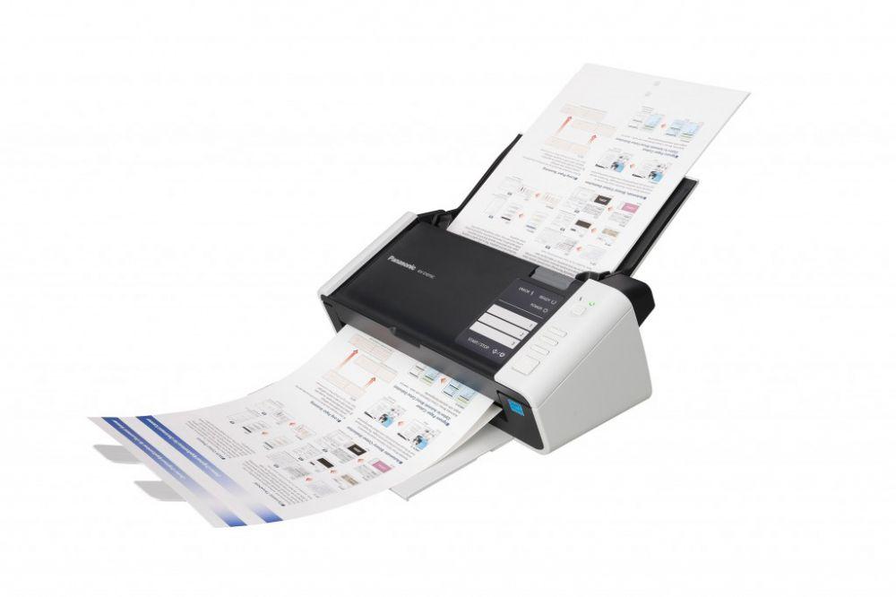 Сканер Panasonic KV-S1037 (KV-S1037-X) A4 белый/черный