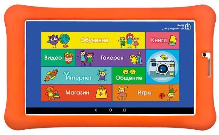 "Планшет Turbo TurboKids 3G NEW MT8321/RAM1Gb/ROM8/7""/3G/WiFi/BT/2Mpix/0.3Mpix/GPS/Android 7.0/белый/оранжевый"