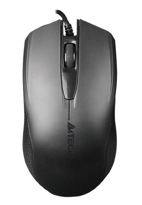 Мышь A4 OP-760 черный оптическая (1000dpi) USB (2but)