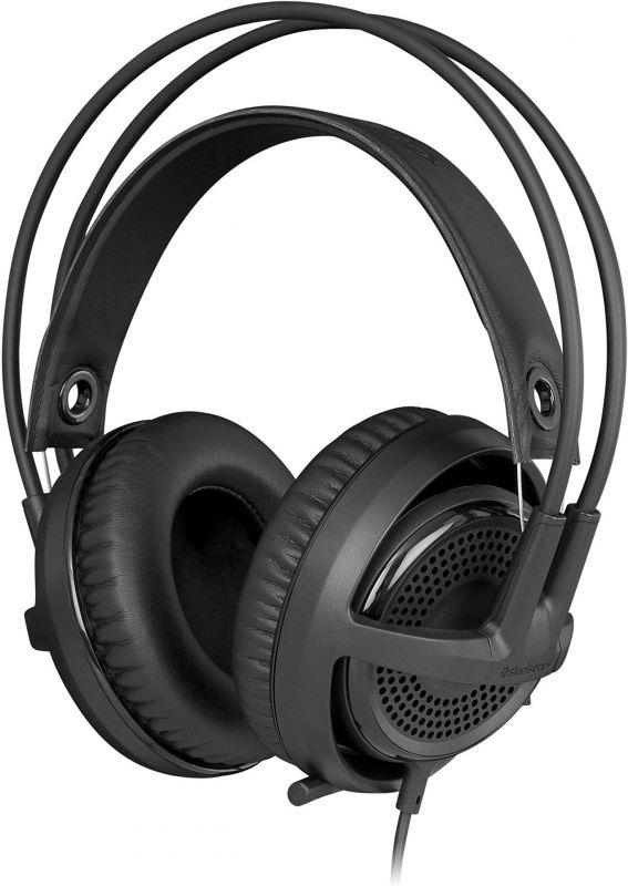 Наушники с микрофоном Steelseries Siberia P300 черный 1.2м мониторы оголовье (61359)