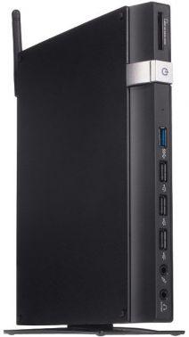 Неттоп Asus E210-B0620 slim Cel N2807 (1.58)/4Gb/SSD32Gb/HDG/CR/noOS/GbitEth/WiFi/45W/черный