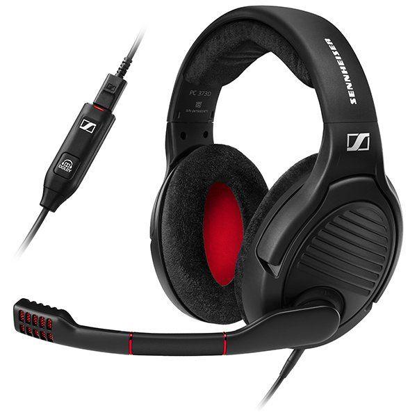 Наушники с микрофоном Sennheiser PC 373D черный/красный 1.2м накладные USB оголовье (506528)