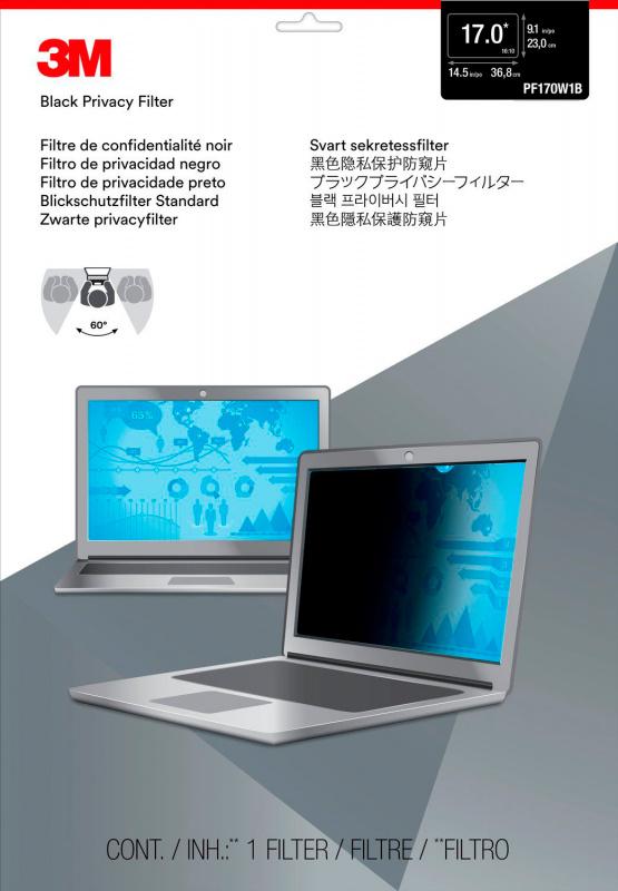 """Пленка защиты информации для ноутбука 3M PF170W1B (7000013838) 17"""" черный"""