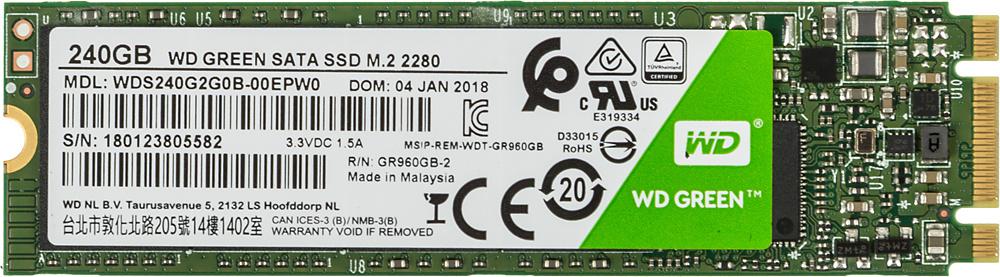 Накопитель SSD WD Original SATA III 240Gb WDS240G2G0B Green M.2 2280