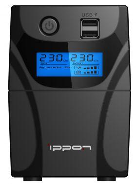 Источник бесперебойного питания Ippon Back Power Pro LCD II 400 240Вт 400ВА черный