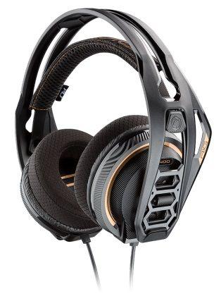 Наушники с микрофоном Plantronics RIG 400 DOLBY ATMOS черный/золотистый мониторы оголовье (210257-05)