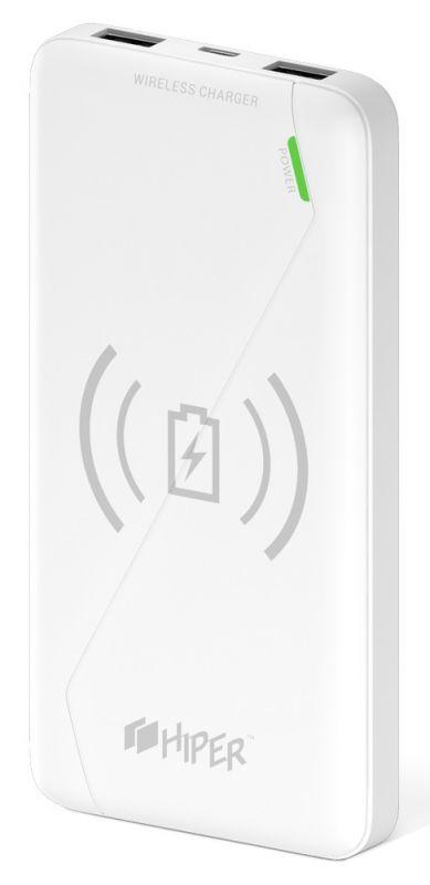 Мобильный аккумулятор Hiper PowerBank SX8000 Li-Ion 8000mAh 2.1A+1A белый 2xUSB