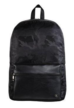 """Рюкзак для ноутбука 15.6"""" Hama Mission Camo черный/камуфляж полиэстер (00101599)"""