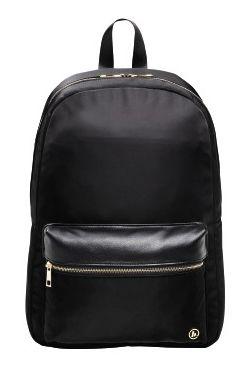 """Рюкзак для ноутбука 15.6"""" Hama Mission черный/золотистый полиэстер (00101589)"""
