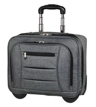 "Сумка для ноутбука 15.6"" Hama Business Notebook-Trolley серый полиэстер (00101579)"
