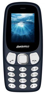Мобильный телефон Digma N331 mini 2G Linx 32Mb темно-синий моноблок 2Sim 1.77