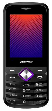 Мобильный телефон Digma A242 Linx 32Mb черный/пурпурный моноблок 2Sim 2.44