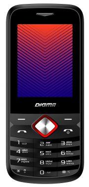 Мобильный телефон Digma A242 Linx 32Mb черный/красный моноблок 2Sim 2.44