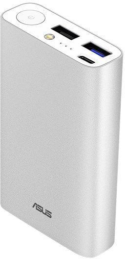 Мобильный аккумулятор Asus ZenPower ABTU012 Li-Ion 10050mAh 3A+2A+1A серебристый 2xUSB