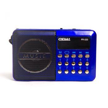 Радиоприемник портативный Сигнал РП-222 синий/черный USB microSD