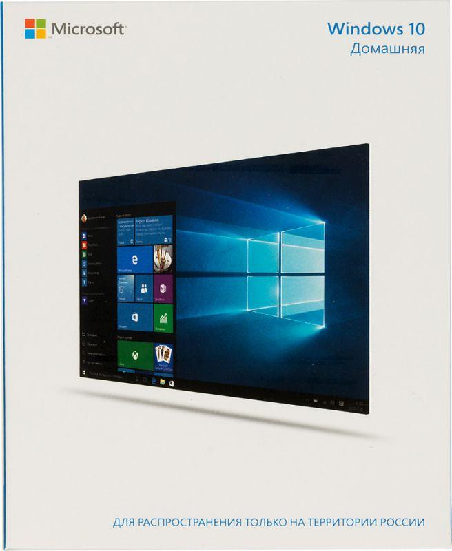 Операционная система Microsoft Windows 10 Home 32/64 bit Rus Only USB RS (KW9-00500)