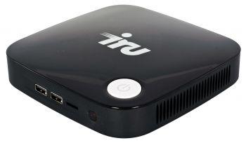 Неттоп IRU 317 Cel J3160 (1.6)/4Gb/SSD32Gb/HDG400/CR/Free DOS/GbitEth/WiFi/BT/36W/черный