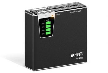 Мобильный аккумулятор Hiper MP5000 Li-Ion 5000mAh 2.1A+1A черный 2xUSB