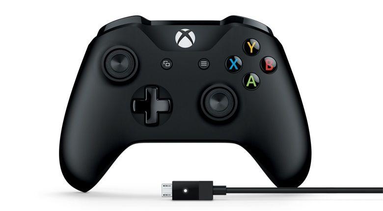 Геймпад Microsoft Xbox One + Беспроводной ПК адаптер черный USB Беспроводной виброотдача обратная связь