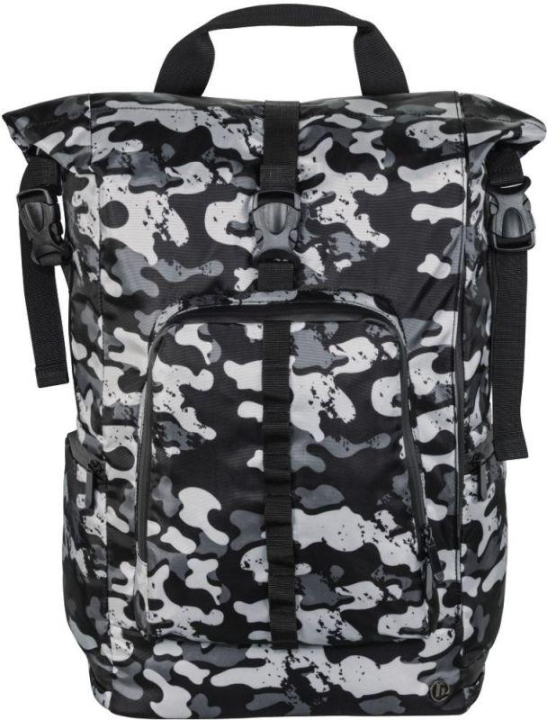 """Рюкзак для ноутбука 15.6"""" Hama Roll-Top серый/камуфляж полиуретан (00101818)"""