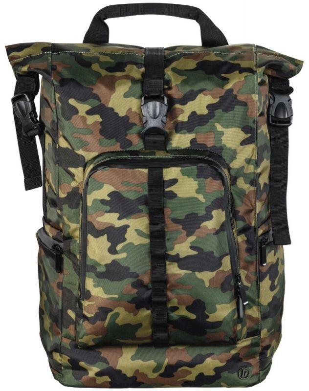 """Рюкзак для ноутбука 15.6"""" Hama Roll-Top зеленый/камуфляж полиуретан (00101820)"""