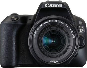 Зеркальный Фотоаппарат Canon EOS 200D черный 24.2Mpix EF-S 18-55mm f/1:4-5.6 IS STM 3
