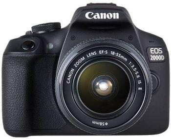 Зеркальный Фотоаппарат Canon EOS 2000D KIT черный 24.1Mpix 18-55mm f/3.5-5.6 IS II 3