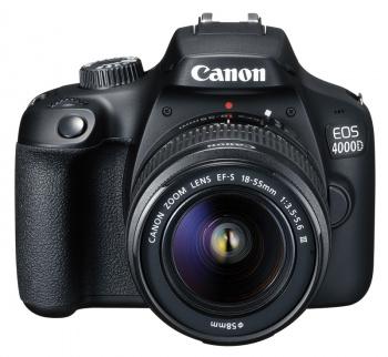 Зеркальный Фотоаппарат Canon EOS 4000D KIT черный 18Mpix 18-55mm f/3.5-5.6 2.7