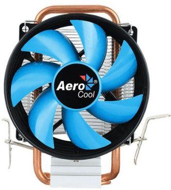 Устройство охлаждения(кулер) Aerocool Verkho 1-3P Soc-FM2+/AM2+/AM3+/AM4/1150/1151/1155/ 3-pin 29dB Al+Cu 100W 280gr Ret